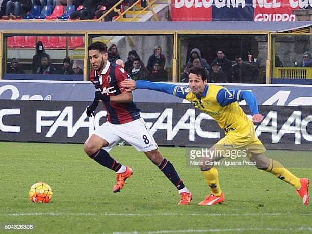 Saphir Taider of Bologna FC in action during the Serie A match between Bologna FC and AC Chievo Verona at Stadio Renato Dall'Ara on January 10 2016...
