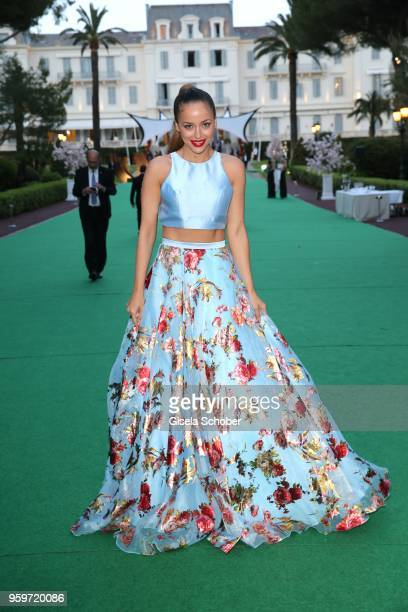 Sapir Azulay during the cocktail at the amfAR Gala Cannes 2018 at Hotel du CapEdenRoc on May 17 2018 in Cap d'Antibes France