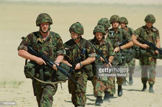 Sapper Gary Williams with the 39th Royal Engineers in Saudi Arabia, 1990.