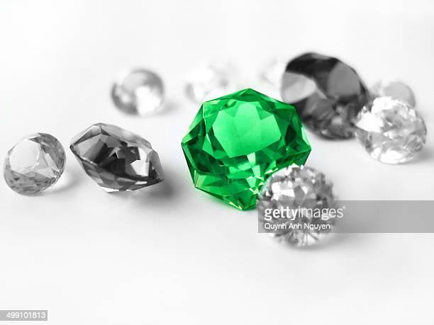 Sapphire gem in focus