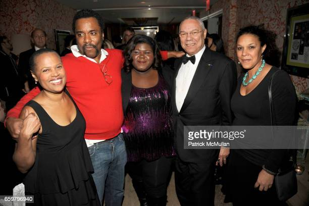 Sapphire Lee Daniels Gabourey Sidibe General Colin Powell and Linda Powell attend THE CINEMA SOCIETY TOMMY HILFIGER host the after party for PRECIOUS...