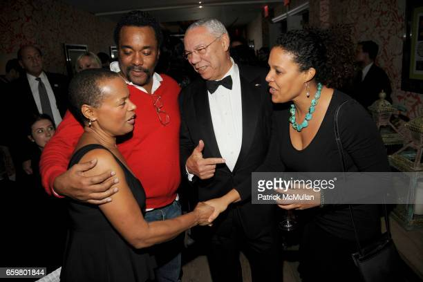 Sapphire Lee Daniels General Colin Powell and Linda Powell attend THE CINEMA SOCIETY TOMMY HILFIGER host the after party for PRECIOUS at Crosby...