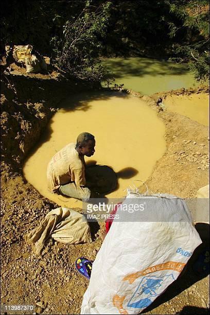 Sapphire mine in Madagascar In August 2005Whenever they can the miners build artificial pools near the mines to wash the extracted earth