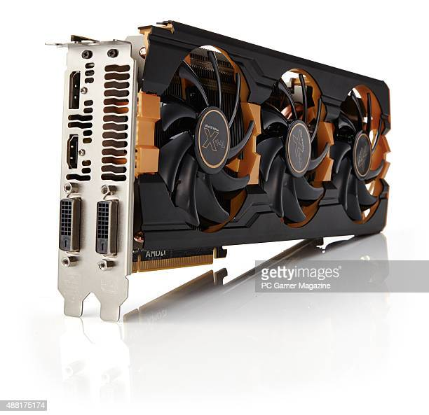 A Sapphire Radeon R9 290 TriX PC graphics card taken on October 20 2014