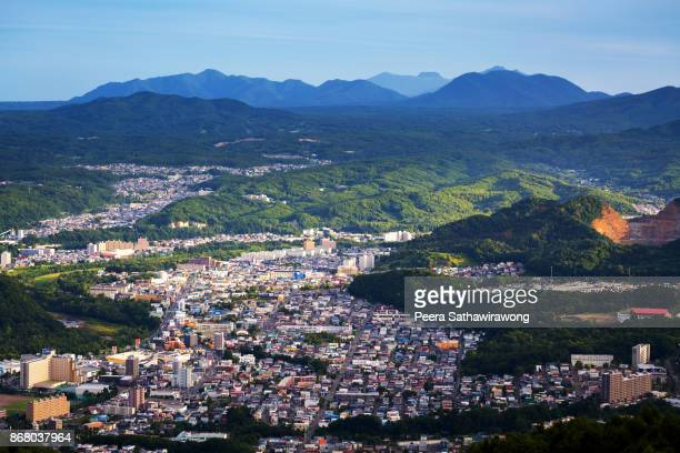 sapporo city skyline - sapporo japan stock pictures, royalty-free photos & images