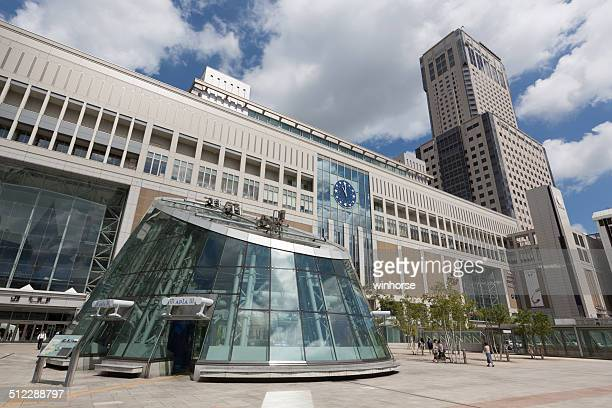 Sapporo Station and JR Tower in Japan