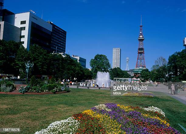 Sapporo Television Tower and Odori Park, Sapporo, Hokkaido, Japan