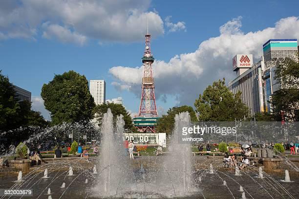 札幌塔や、日本の大通り公園