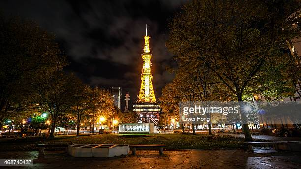 sapporo tv tower - sapporo stock pictures, royalty-free photos & images