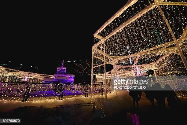 sapporo white illumination 2016 - sapporo festival stock pictures, royalty-free photos & images
