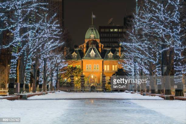 sapporo white illuminations - sapporo stock pictures, royalty-free photos & images