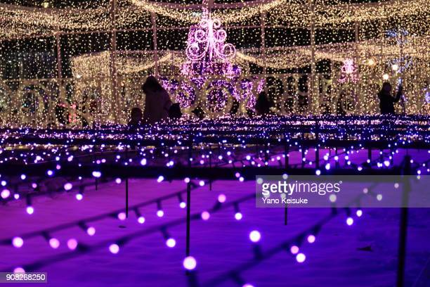 sappro white illumination - sapporo festival stock pictures, royalty-free photos & images