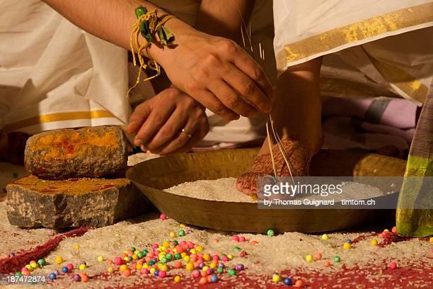 Saptpadi South Indian marriage ritual