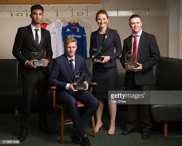 Saqib Mahmood the England Development Programme Cricketer of the Year award winner Joe Root the England Men's Cricketer of the Year Charlotte Edwards...