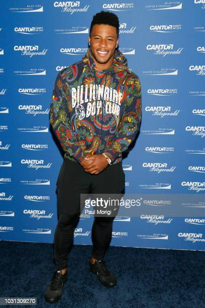 Saquon Barkley attends the Annual Charity Day hosted by Cantor Fitzgerald, BGC and GFI at Cantor Fitzgerald on September 11, 2018 in New York City.
