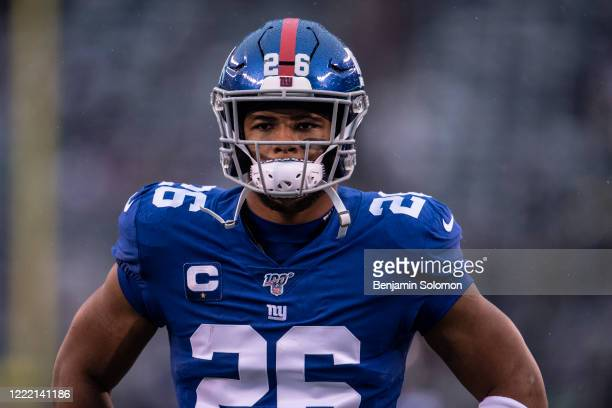 Saquon Barkley of the New York Giants at Metlife Stadium on December 29, 2019 in East Rutherford, New Jersey.