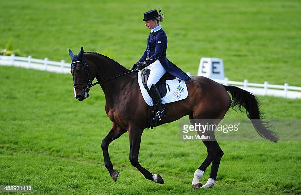 Sara Algotsson Ostholt of Sweden riding Reality 39 during the dressage on day three of the Badminton Horse Trials on May 9 2014 in Badminton England