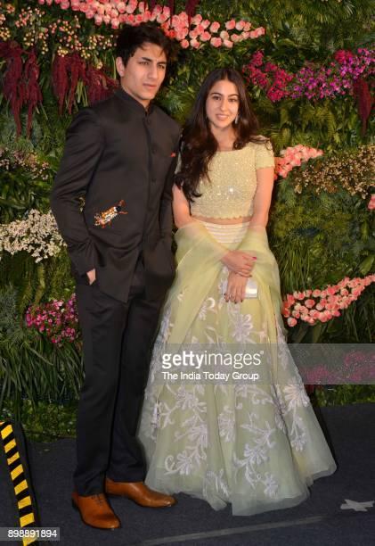 Sara Ali Khan and Ibrahim at Virat Kohli and Anushka Sharmas reception in Mumbai