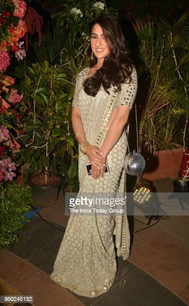 Sara Ali Khan at Saudamini Mattus wedding reception in Mumbai