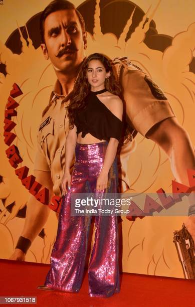 Sara Ali Khan at the trailer launch of her movie Simmba in Mumbai