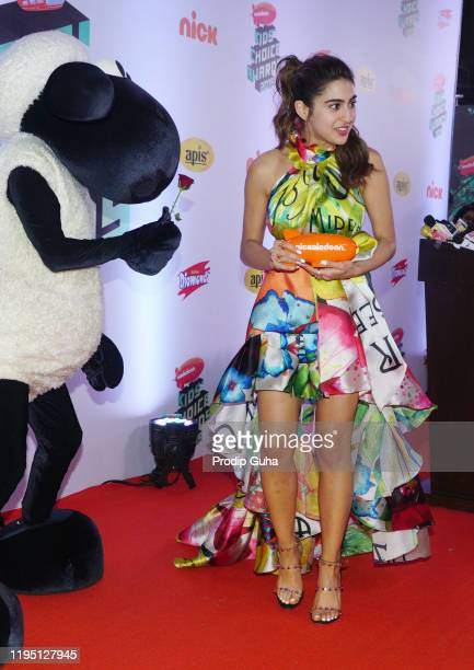 Sara Ali Khan attends the Nickelodeon The Kids Choice Awards 2019 on December 202019 in Mumbai India