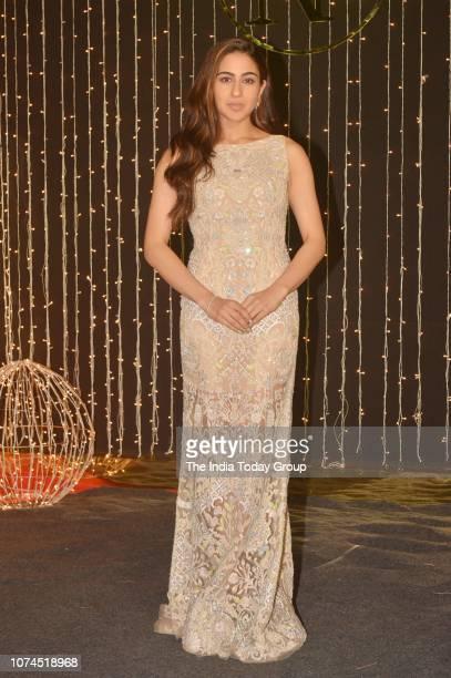 Sara Ali Khan poses for camera at Priyanka Chopra and Nick Jonass reception in Mumbai