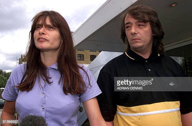 Sara and Michael Payne parents of murdered child Sarah Payne arrive at Times International headquarters in London 02 August 2000 The Payne family...