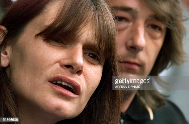 Sara and Michael Payne parents of murdered child Sarah Payne speak to the media after a meeting at Times International Newspapers headquarters in...