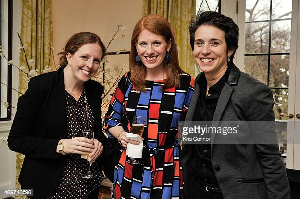 Sara Baker Senior Producer of Good Morning America guest and Amy Walter National Editor of the Cook Political Report attend a reception to honor...