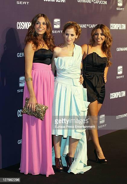 Sara Ballesteros and Sandra Cervera attend 'Cosmopolitan Fun Fearless Female' Awards 2011 on October 3 2011 in Madrid Spain