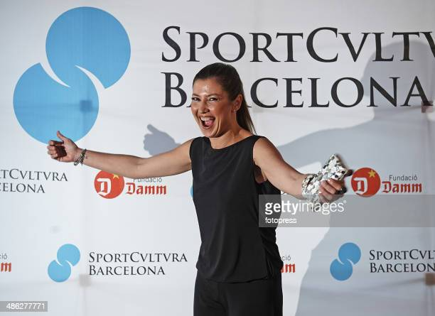 Sara Baras attends the Sports Cultura Barcelona awards during day three of the ATP Barcelona Open Banc Sabadell at the Real Club de Tenis Barcelona...