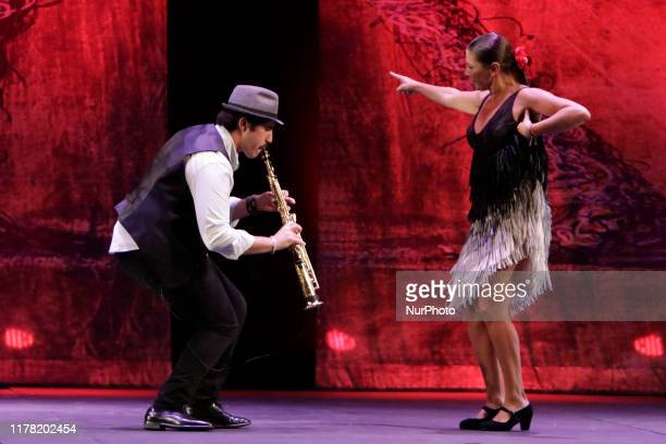 Sara Baras of 48 years old is a Spanish flamenco dancer and choreographer performing her dance during her show 'Sombras' as part of the 47th...