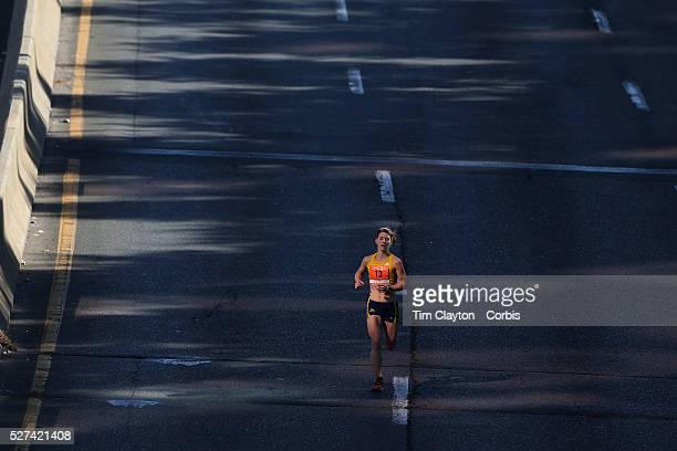 Sara Bard Somerville Massachusetts the third placed women in the ING Hartford Marathon Bushnell Park Hartford Connecticut USA Hartford Connecticut...
