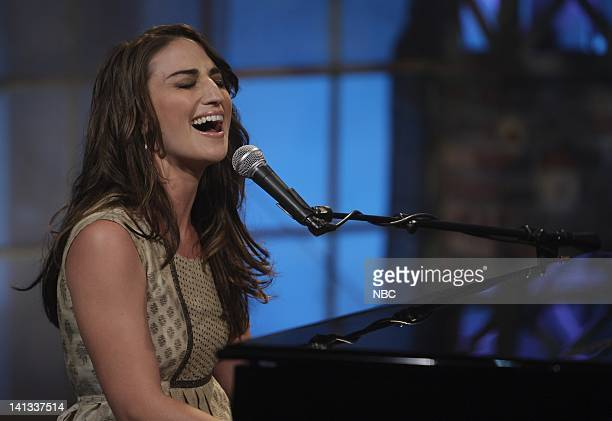 Sara Bareilles -- Air Date -- Episode 3582 -- Pictured: Musical guest Sara Bareilles performs on July 9, 2008 -- Photo by: Paul Drinkwater/NBCU Photo...