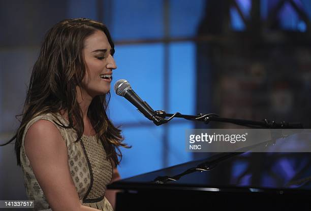 LENO Sara Bareilles Air Date Episode 3582 Pictured Musical guest Sara Bareilles performs on July 9 2008 Photo by Paul Drinkwater/NBCU Photo Bank