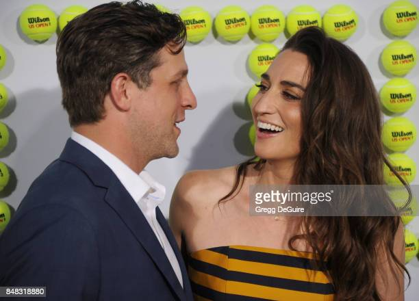 Sara Bareilles and Joe Tippett arrive at the premiere of Fox Searchlight Pictures' 'Battle Of The Sexes' at Regency Village Theatre on September 16...