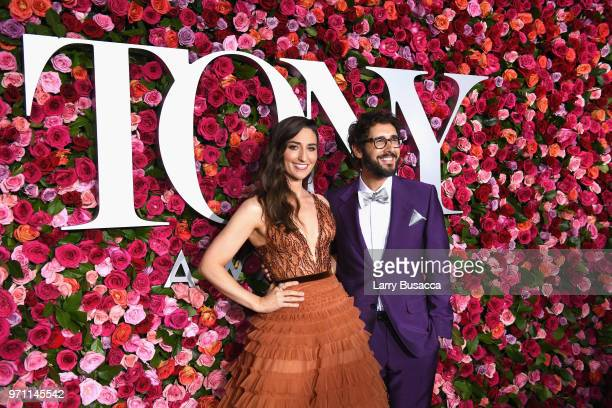 Sara Bareilles and Josh Groban attend the 72nd Annual Tony Awards at Radio City Music Hall on June 10 2018 in New York City