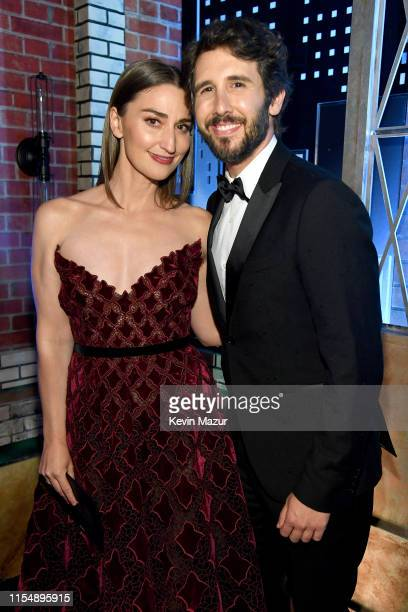 Sara Bareilles and Josh Groban attend the 73rd Annual Tony Awards at Radio City Music Hall on June 09 2019 in New York City
