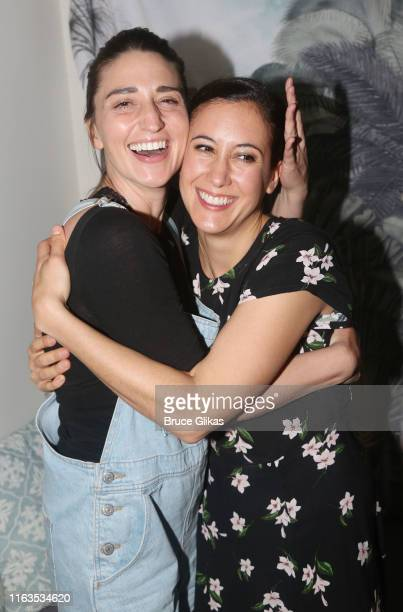 Sara Bareilles and Vanessa Carlton pose backstage at the hit musical Beautiful The Carole King Musical on Broadway at The Stephen Sondheim Theatre on...