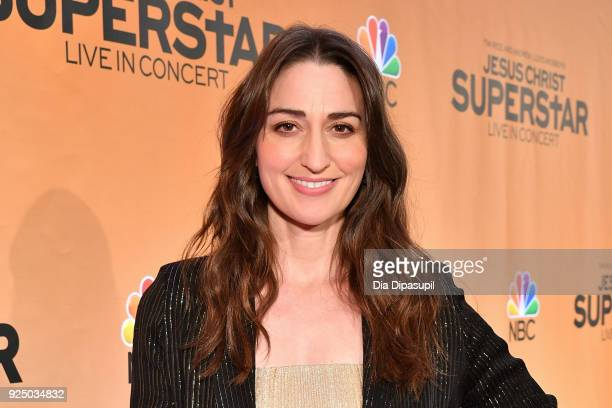Sara Bareilles attends NBC's 'Jesus Christ Superstar' Press Junket at the Church of St Paul the Apostle on February 27 2018 in New York City