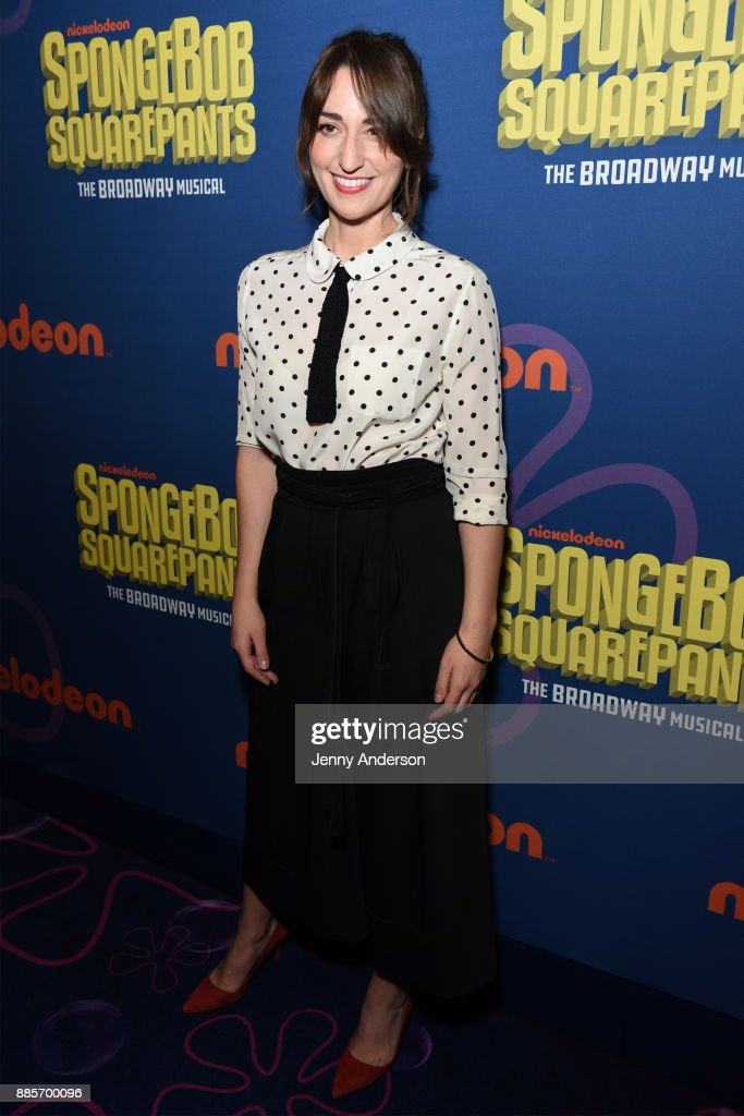 Sara Bareilles attends Opening Night of Nickelodeon's SpongeBob SquarePants: The Broadway Musical at Palace Theatre on December 4, 2017 in New York City.