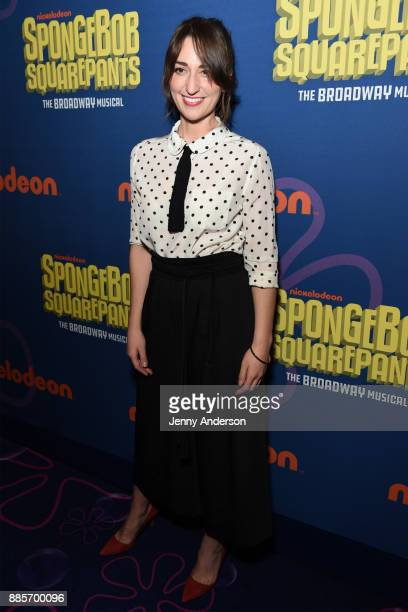 Sara Bareilles attends Opening Night of Nickelodeon's SpongeBob SquarePants The Broadway Musical at Palace Theatre on December 4 2017 in New York City