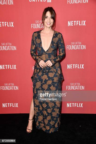 Sara Bareilles attends SAGAFTRA Foundation Patron of the Artists Awards at the Wallis Annenberg Center for the Performing Arts 2017 on November 9...