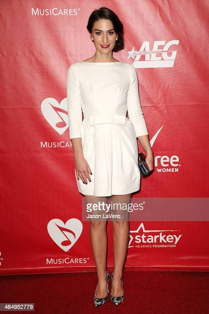 Sara Bareilles attends the 2014 MusiCares Person of the Year honoring Carole King at Los Angeles Convention Center on January 24 2014 in Los Angeles...