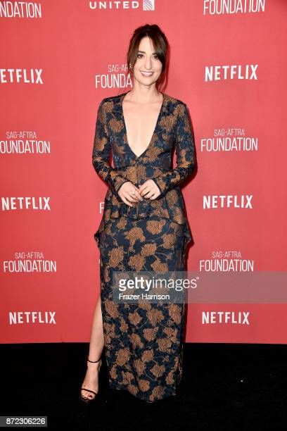 Sara Bareilles attends the SAGAFTRA Foundation Patron of the Artists Awards 2017 at the Wallis Annenberg Center for the Performing Arts on November 9...