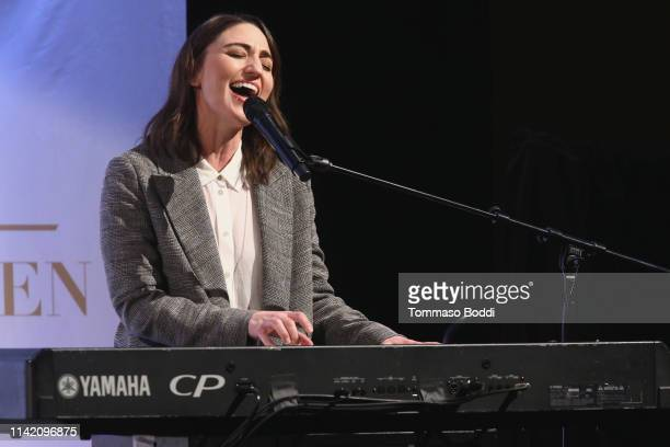 Sara Bareilles attends the UCLA #WOW The Wonder Of Women Summit at UCLA Meyer and Renee Luskin Conference Center on April 11 2019 in Los Angeles...