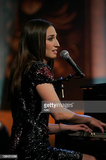 LENO Sara Bareilles Episode 3704 Air Date Pictured Musical guest Sara Bareilles performs on February 3 2009