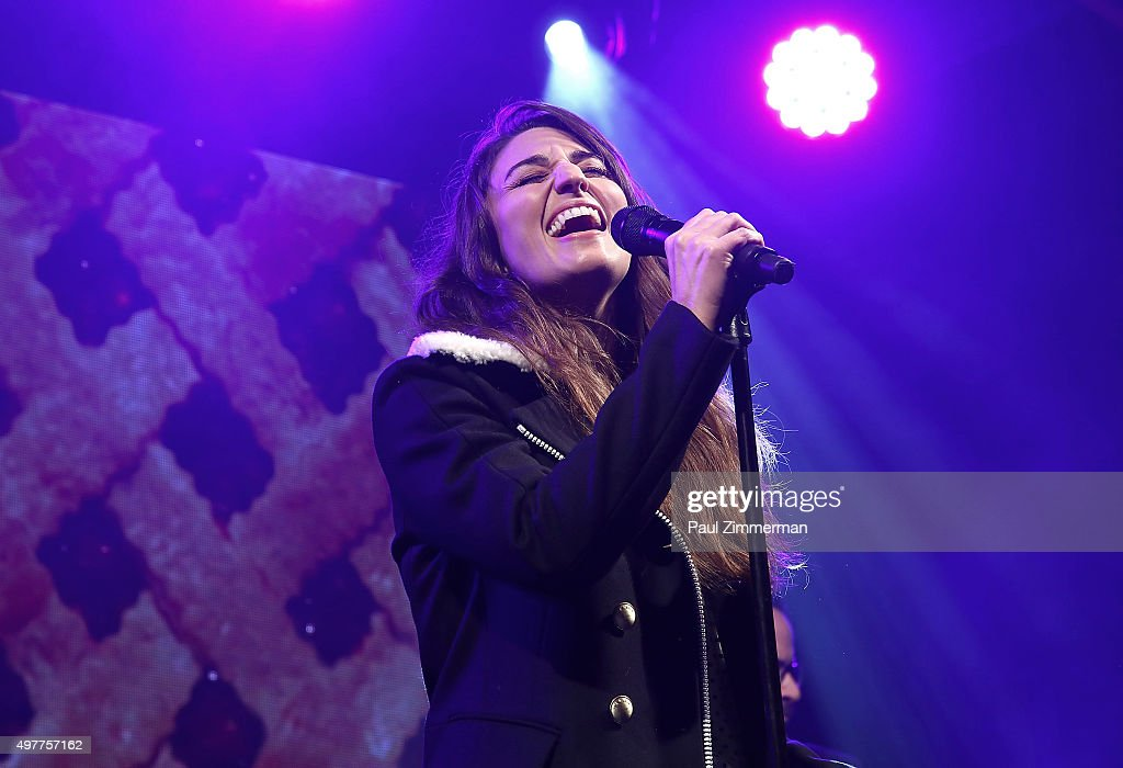 Sara Bareilles performs at Bloomingdale's 59th Street Store on November 18, 2015 in New York City.