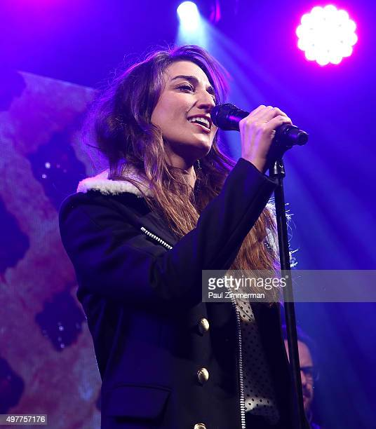 Sara Bareilles performs at Bloomingdale's 59th Street Store on November 18 2015 in New York City