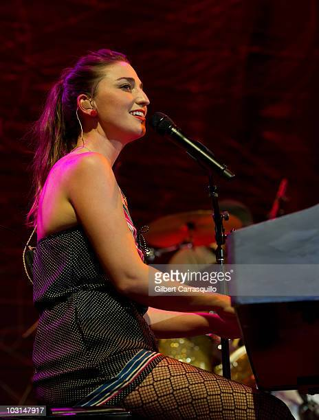 Sara Bareilles performs during Lilith Fair at the Susquehanna Bank Center on July 28 2010 in Camden New Jersey
